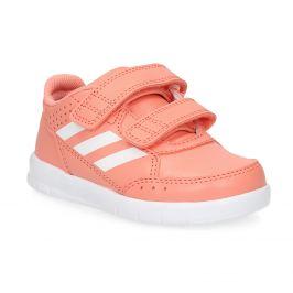 Dievčenské ružové tenisky na suchý zips