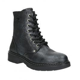 Detské kožené šnurovacie topánky