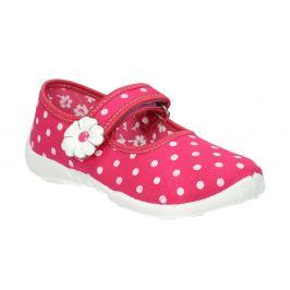 Domáce papuče s bodkami