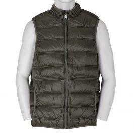Pánska khaki prešívaná vesta