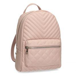 Mestský ružový prešívaný batoh