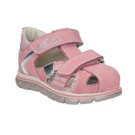 Dievčenské kožené sandále s potlačou
