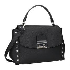 Čierna crossbody kabelka s cvočkami