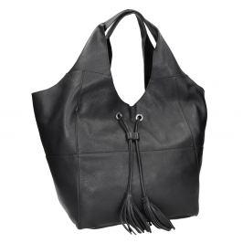 Kožená dámska kabelka so strapcami