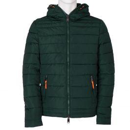 Zelená pánska bunda s kapucou