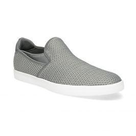 Šedé Slip-on topánky pánske