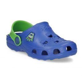 Modré detské sandále so žabkou