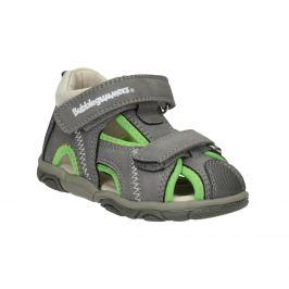Šedo-zelené detské sandále