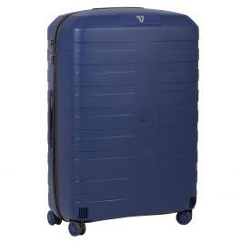 Modrý cestovný kufor na koliečkach
