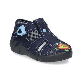 Chlapčenská domáca modrá obuv