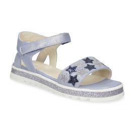 Modré dievčenské sandále s hviezdičkami
