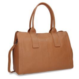 Svetlo hnedá kožená kabelka