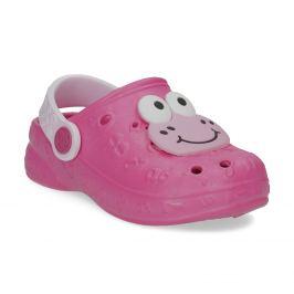 Dievčenské ružové sandále so žabkou