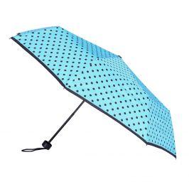 Modrý dáždnik s bodkami