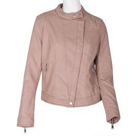 Ružová dámska bunda z kožušiny