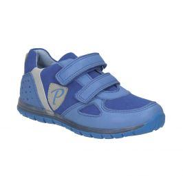 Chlapčenské modré kožené tenisky