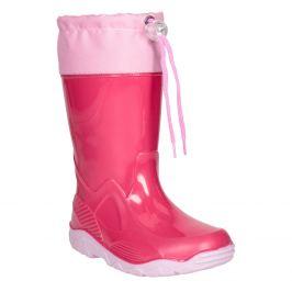 Ružové dievčenské gumáky