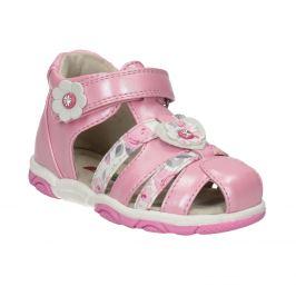 Ružové dievčenské sandále na suchý zips