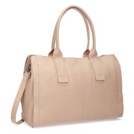 Svetlo béžová kožená kabelka