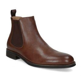 Hnedé kožené Chelsea Boots