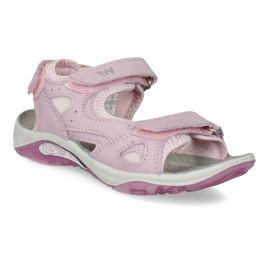 Dievčenské kožené sandále v Outdoor štýle