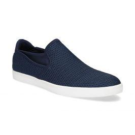 Modré pánske Slip-on topánky z textilu