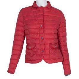 Červená prešívaná bunda s golierom