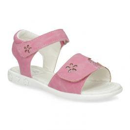 Ružové dievčenské sandále s  trblietkami
