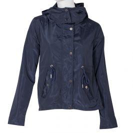 Dámska modrá bunda s kapucňou