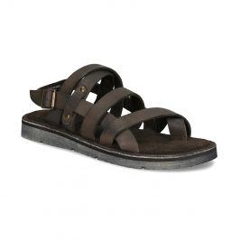 Kožené pánske sandále hnedé