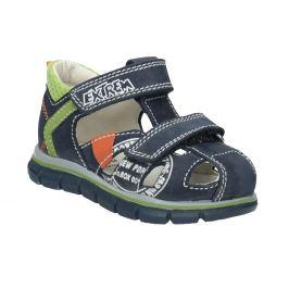 Chlapčenské kožené sandále s potlačou