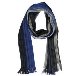 Pánsky modrý šál s prúžkami
