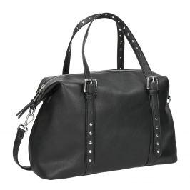 Čierna kabelka s kovovými cvočkami
