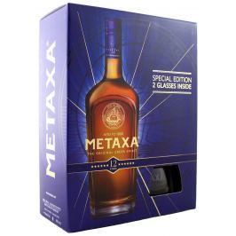 Metaxa 12* s 2 pohármi 40% 0,7l
