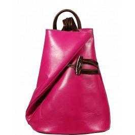 ružový batoh Nilde Fuxia Marrone