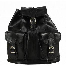 Čierny kožený batôžtek Alida Nera Argento