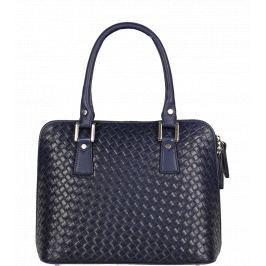 9583e0ac03fc8 Detail · Modrá kožená kabelka Stella Blu Piazza