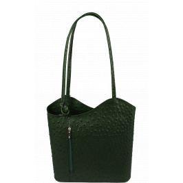 32f2052cb8297 Detail · Krásna kožená kabelka / batôžtek Clarise Struzza Verde