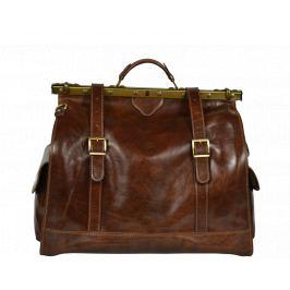 Cestovná kožená taška Sabrine Marrone Scura
