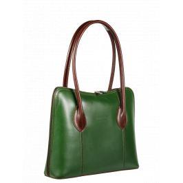 e93ad581405b7 Detail · Talianská kožená kabelka Palagio Verde Marrone Scura