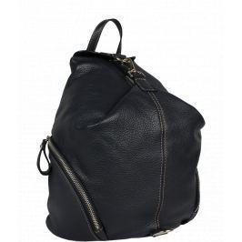 Modrý kožený batoh Moira Blu