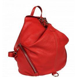 Červený kožený batôžtek Moira Rossa