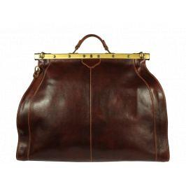 Cestovná kožená taška Medico Marrone