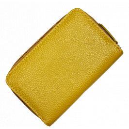 Žltá kožená peňaženka WB009 Gialla