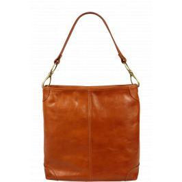 c1391a0a13fa4 Detail · Pekná kožená kabelka vo farbe camel Ginevra Camel Scura