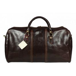 Hnedá cestovná taška Brunilde Cafe