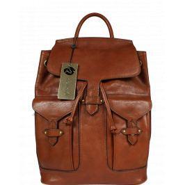 Talianský kožený batôžtek Peria Marrone