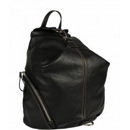 Kožený čierny batôžtek Moira Nera