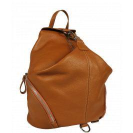 Talianský kožený batôžtek Moira Camel