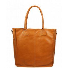 3287ea2694 Pekná kožená kabelka Fausta Camel